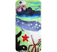 Sea Otters and Whales iPhone Case/Skin