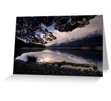 Mavora Lakes, Sunset Greeting Card