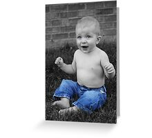 Baby Boy Blue Greeting Card