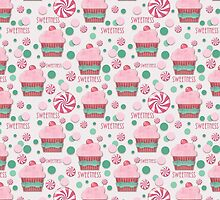 Cupcake and Candy Sweetness Pattern by Betsy Bush