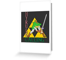 Hyrule Calling! Greeting Card