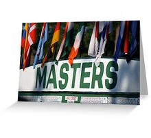 The Masters Leader-board Greeting Card