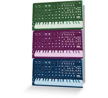 Korg MS-20 Synthesizer Greeting Card