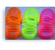 Neon Slinkies Canvas Print