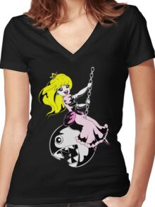 Like a Chain Chomp Women's Fitted V-Neck T-Shirt