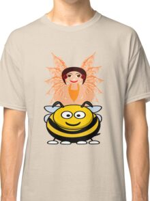 Golden Fairy and her Pet Bee scarf, etc. design Classic T-Shirt