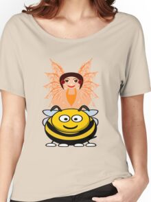 Golden Fairy and her Pet Bee scarf, etc. design Women's Relaxed Fit T-Shirt