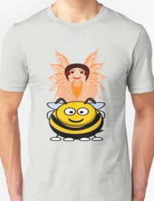 Golden Fairy and her Pet Bee scarf, etc. design Unisex T-Shirt