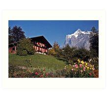 Chalet near Grindelwald, Switzerland Art Print