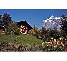 Chalet near Grindelwald, Switzerland Photographic Print