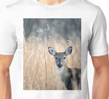 A White Tailed Doe Stares at the Viewer Unisex T-Shirt