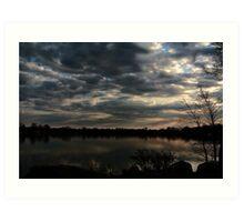 Pine Lake Clouds Art Print