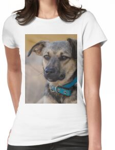 Dog Portrait Womens Fitted T-Shirt