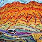 Bus Tour of the Rainbow Mountains by Bunny Clarke
