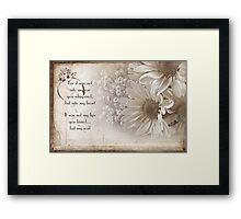 Romance Blossoms Framed Print