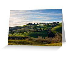 Serpentine Path, La Foce, Tuscany, Italy Greeting Card