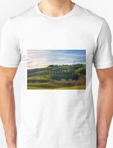 Serpentine Path, La Foce, Tuscany, Italy T-Shirt
