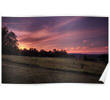Montour Preserve Sunset Poster