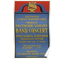 WPA United States Government Work Project Administration Poster 0612 Southside Varsity Band Concert Poster