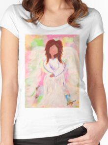 Angel of Peace Women's Fitted Scoop T-Shirt