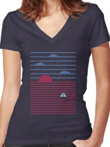 Plain Sailing Women's Fitted V-Neck T-Shirt