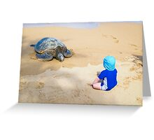 Conference on the Beach of Maui Greeting Card