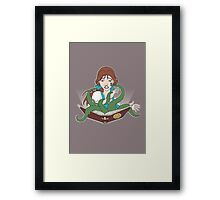 Madness in the Library Framed Print