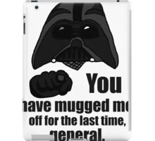 Darth Mugged iPad Case/Skin