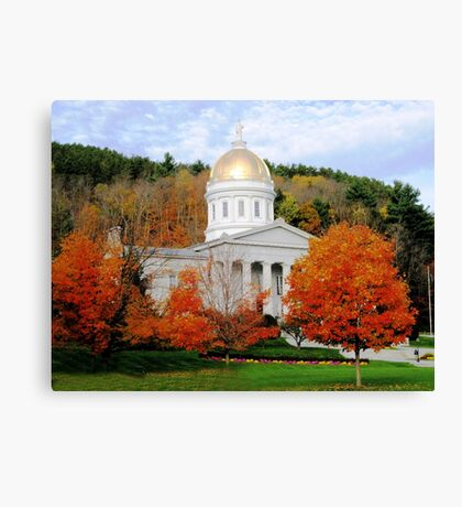 State House in Montpelier Canvas Print