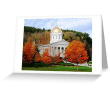 State House in Montpelier Greeting Card