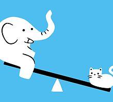 Cat And Elephant by obinsun