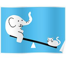 Cat And Elephant Poster