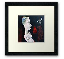 Her Messenger  Framed Print