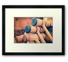Croquet Anyone? Framed Print