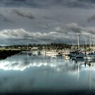 Reflections at the Docks by Avena Singh