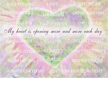 Inspirational Subliminal Art - Heart Chakra Openin - Affirmations by vickieverlie