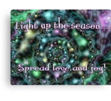 Light Up the Season Card Canvas Print
