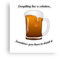 BEER SOLUTION Canvas Print