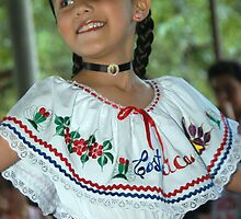 Costa Rica Dancing Girl by Ken Scarboro