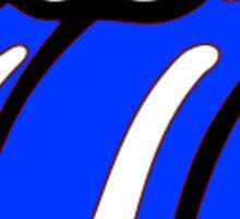 BLUE LIPS Sticker