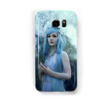 Mystic girl blue hair smoke fantasy elves Samsung Galaxy Case/Skin