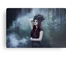 Beautiful gothic girl dark fantasy Metal Print