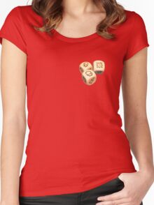 3 Dice Block Women's Fitted Scoop T-Shirt