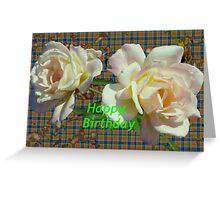 Twin birthday roses Greeting Card