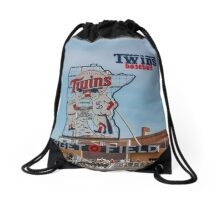 Twins Baseball Drawstring Bag