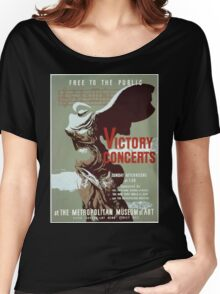 WPA United States Government Work Project Administration Poster 0395 Victory Concerts Metropolitan Museum of Art Women's Relaxed Fit T-Shirt