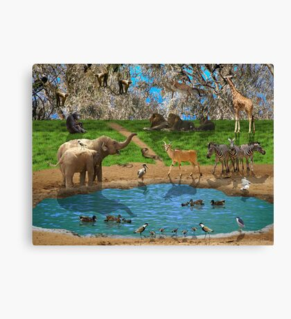 Animals kingdom Canvas Print