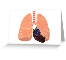 heart and lungs Greeting Card