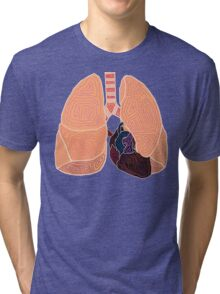 heart and lungs Tri-blend T-Shirt