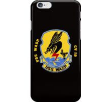 Crest of the USS Wasp CVS-18 for Dark Backgrounds iPhone Case/Skin